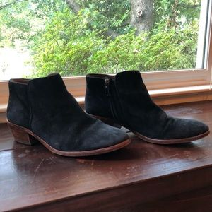 Sam Edelman Petty Boot in Black Suede